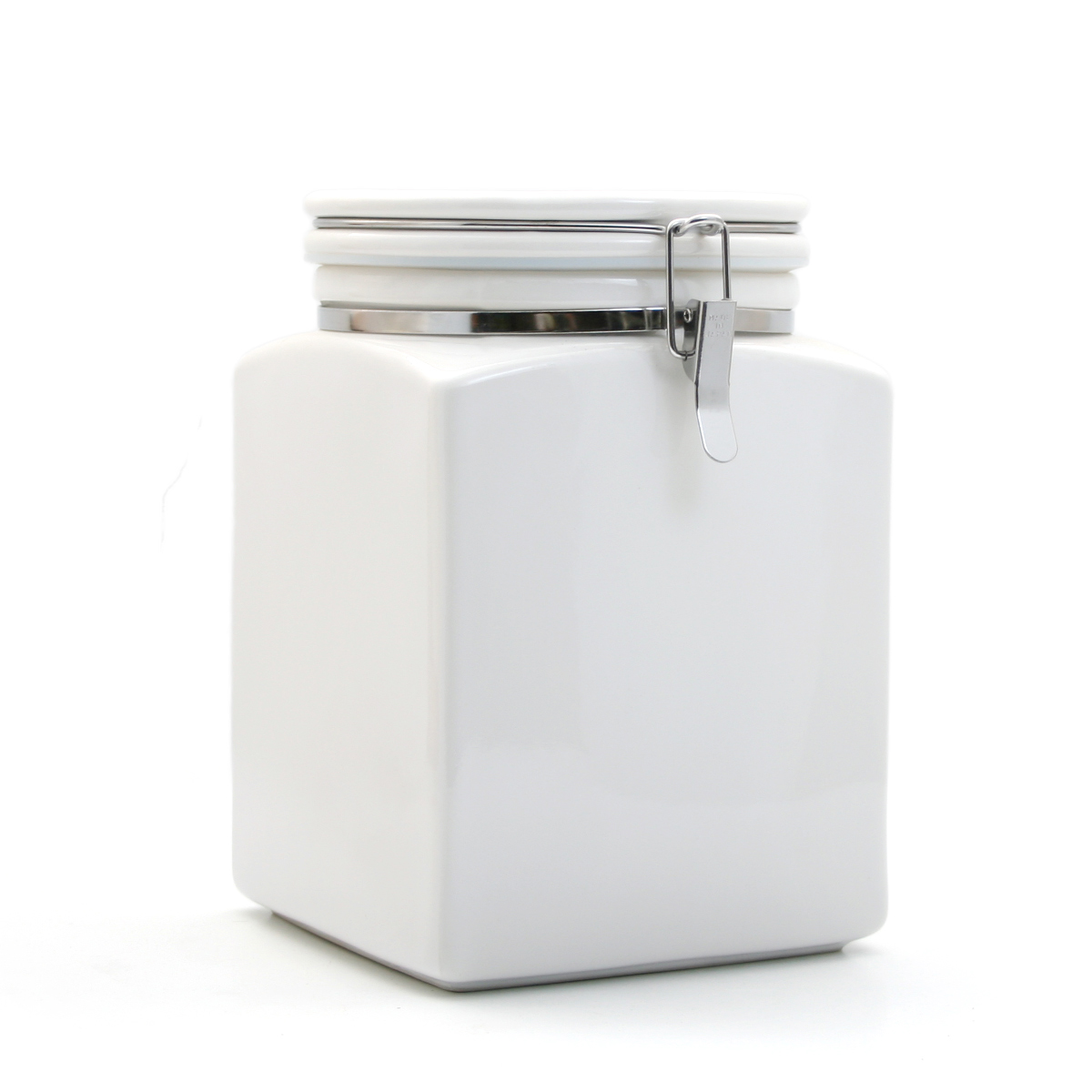 square kitchen canisters square canister l with ceramic spoon 6588